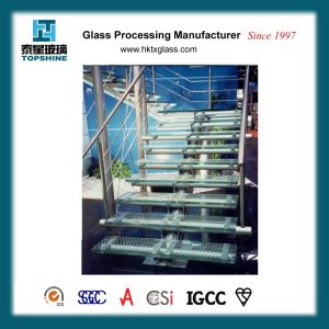 High Quality Safety Anti Skidding Glass Stair, Tempered Laminated Floor Stair Glass for Hotel pictures & photos