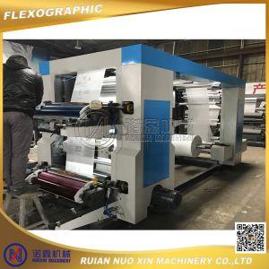 Flexo 4 Colors Printing Machine/Printing on Plastic Film pictures & photos