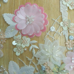 1.35 Width Multicolor 3D Floral Wedding Lace Factory in Guangzhou, China pictures & photos