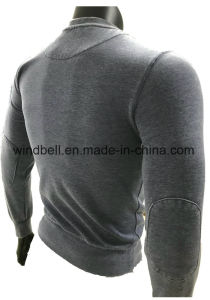 Wholesale Fleece Pullover for Men with Burn out pictures & photos