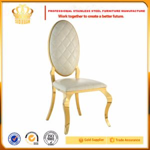 Modern Stainless Steel Banquet Gold Dining Chair for Weddings Made in China pictures & photos