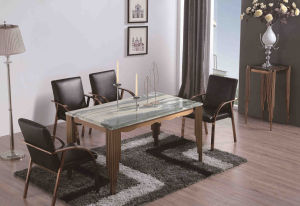 Hotel Furniture Console Walnut Top with Stainless Steel Leg pictures & photos