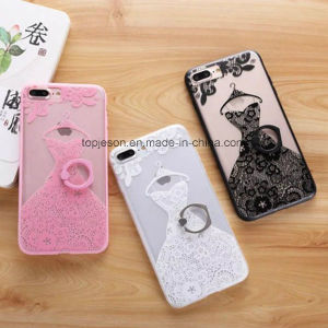 Lace Wedding Dress with Holder Anti Fall Phone Case for iPhone 7/7 Plus