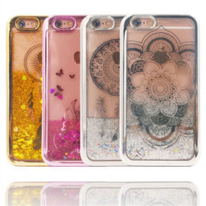 Eectroplate Liquid Quicksand Flowers Mandala Soft Case for Cell Phone Accessories (XSDD-075) pictures & photos