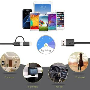2 in 1 USB A Plug to Lightning & Micro USB Cable pictures & photos