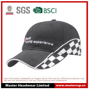 100% Cotton Racing Baseball Cap with Embroidery