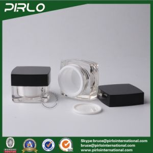 15g High Quality Acrylic Plastic Square Sample Cosmetic Makeup Jar Containers Eye Cream Jar pictures & photos