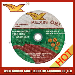 4.5′′ Depressed Center Thin Cutting Disc for Inox 105X1.0X16 pictures & photos