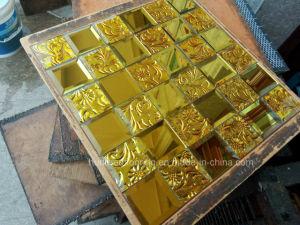 Gold Mosaic Tile Diamond Mirror Mosaic (HD070) pictures & photos