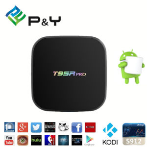Amlogic S912 2GB 16GB Kodi 17.0 Bluetooth Android TV Box T95r PRO with WiFi 2.4G 5g pictures & photos