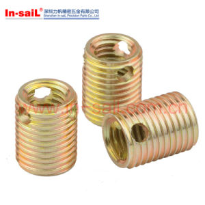 ISO OEM Color Zinc Plated Steel Self Tapping Threaded Inserts pictures & photos