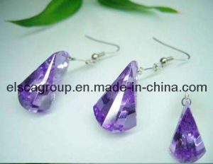 316L Stainless Steel Purple Stone Women Earrings (SE0903)