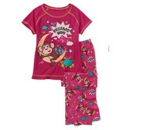 Fashion 100% Polyester Two PCS Set Girl′s Pajamas