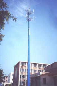 Single Tube Tower / Steel Tower / Single Pipe Telecom Tower (HUAWO)