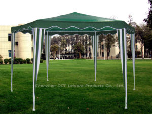 Hexagon Gazebo / PE Fabric Gazebo / Gazebo Tent (OCT-XC010PE) pictures & photos