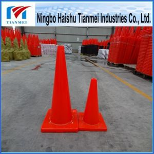 100% New PVC Traffic Safety Cone, 45/70cm Height Road Cone pictures & photos