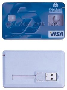 Novelty Credit Card USB Flash Drive, USB 2.0
