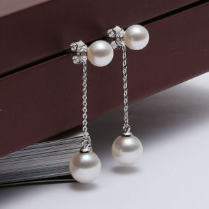 Fashion Double Freshwater Pearl Earring pictures & photos