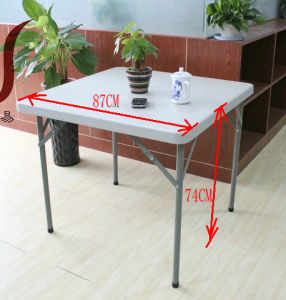 Blow Molded Placstic Square Folding Table pictures & photos