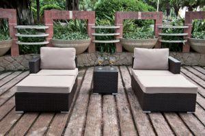 Outdoor Furniture Sofa Garden Patio Rattan Wicker Nicola Lounge Set (J383) pictures & photos