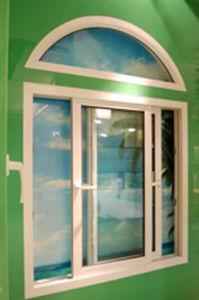 PVC Sliding Window with Arc Wndow pictures & photos