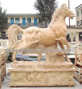 Stone Marble Horse Statue Animal for Garden Sculpture (SY-B116) pictures & photos