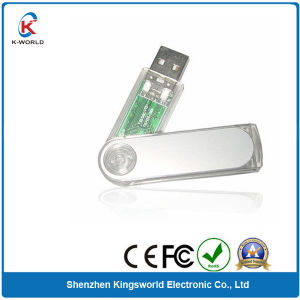 Transparent Plastic Swivel USB Flash Drive