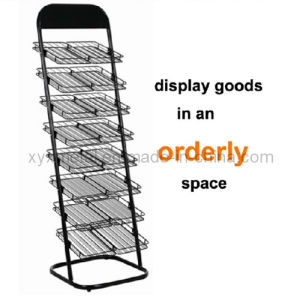 Commercial Advertisement Metal Wire Newspaper Display Stand Rack pictures & photos
