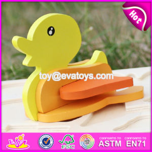 2017 New Product Funny 3D Duck Children Wooden Animal Puzzles for Toddlers W14G043 pictures & photos