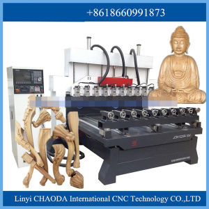 Versatile CNC Router for 3D Wood Carving (JCW1325R-8H) pictures & photos