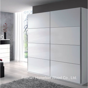Sturdy Wooden Bedroom 2 Sliding Door Wardrobe Closet (WB42) pictures & photos