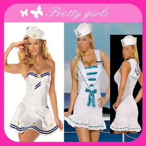 Adult Sexy White Sailor Costume