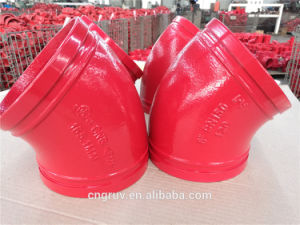 165.1mm Grooved Elbow 45deg, FM and UL Approved, Ral3000 Epoxy Powder pictures & photos
