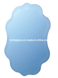 Silver Shaped Bevel Mirror