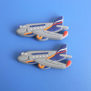 Airplane Shaped 3D Rubber Fridge Magnet pictures & photos