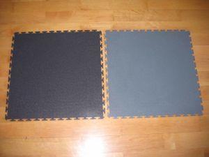 PVC Interlocking Gym Floor 500 x 500 x 7mm pictures & photos