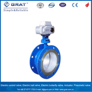 Dn 500 Electric Butterfly Wave Flang Connection Valve pictures & photos