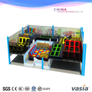 Ninja Warrior with Trampoline Park for Play Center pictures & photos