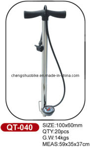Bike Pump Qt-040 with Hydraulic Pressure Gauge pictures & photos
