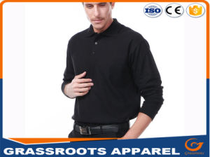 High Quality Factory Price Customized Plain Embroidery Dry Fit Long-Sleeve Mens Polo Shirts pictures & photos