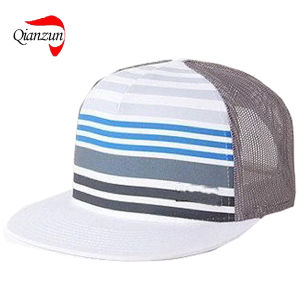 Striped Mesh Adjustable Trucker Caps pictures & photos