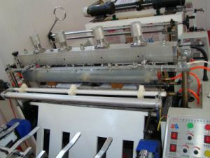 High Speed Double Lines Hot Cutting Bag Machine (SSH-800D) pictures & photos