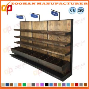 Metal Supermarket Wall Wire Shelves Storage Display Fixtures Shelving (Zhs391) pictures & photos