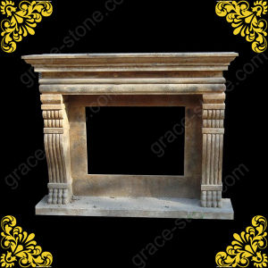 Antique Stone Fireplace for Home Decoration (GS-AN-1011) pictures & photos