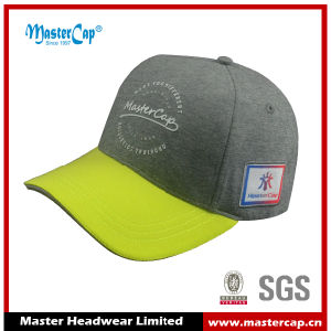 5-Panel Cotton Jersey Fabric Baseball Cap with Rubber Printing
