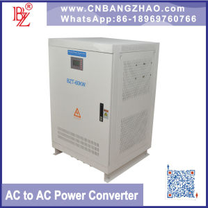 Single Phase to 3 Phase Inverter 60kw Stable Output Frequency Converter pictures & photos