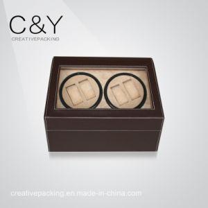 New Design Matte Finish Ebony Wood Quad Watch Winder pictures & photos