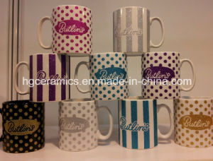Ceramic Mug with Glitter Logo pictures & photos