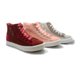 Coloured Ribbon Fathion Three Vulcanization Casual Women Shoes pictures & photos