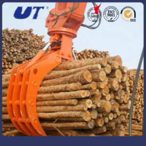 Hydraulic Rotary Timber Grapple Excavator Attachments pictures & photos